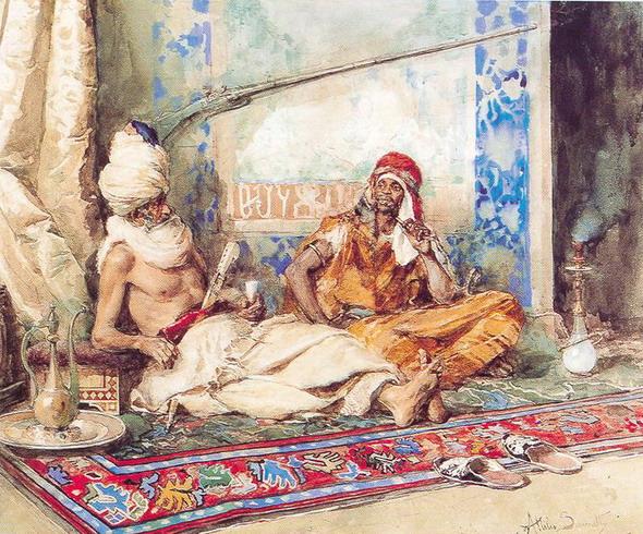 Традиции ритуала совместного курения кальяна