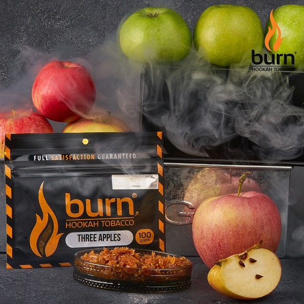 Табак для кальяна Burn Three-apple